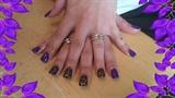 purple n gold cheetha