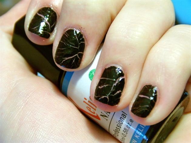 crack polish black