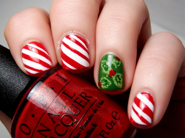 Candy Canes and Holly Berries