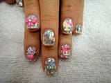 Confetti Hello Kitty nails