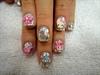 Confetti Hello Kitty nails