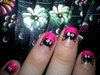 spider nails art