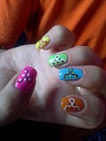 colourful abstract nails