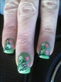 green handpainted flowers 1/5/2012