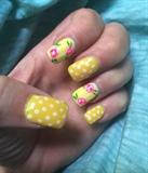 Spring yellow polka dots