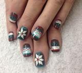 Christmas sweater nail art