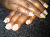 glitter acryl/handpainted