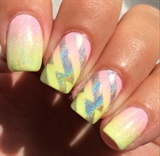 Pastel Gradient With Holo Lightning Bolt