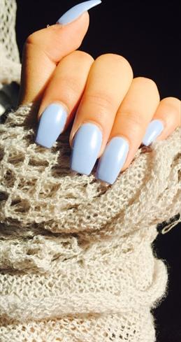 Purple Acrylic Nails