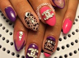 nail art: Cheetah-licious