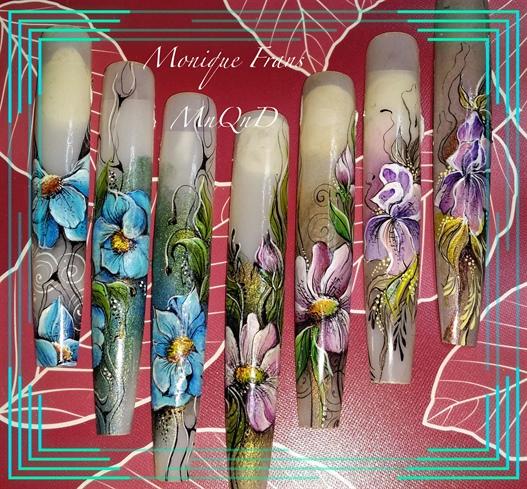 Handpainting flowers