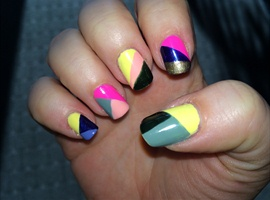 nail art: Shattered Chaos
