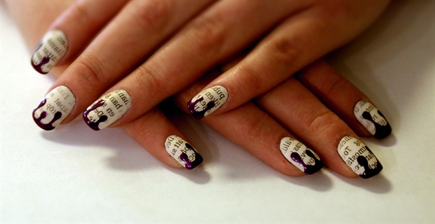 Newspaper Nail Art Gallery