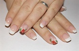 Wedding nails/Cover pink with french