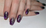 Purple corset nails