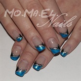 Blue tips with foil