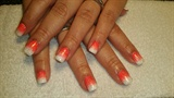 Orange n White Ombre