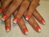 Orange n White Ombre