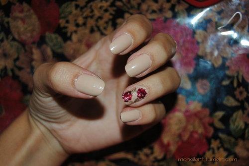Autumn Floral Nail Art