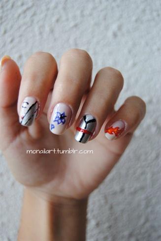 Mulan Inspired Nail Art.