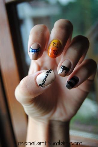 Pocahontas Inspired Nail Art