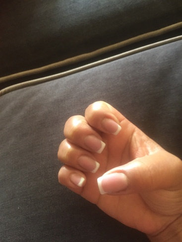 My First UV Gel French Mani