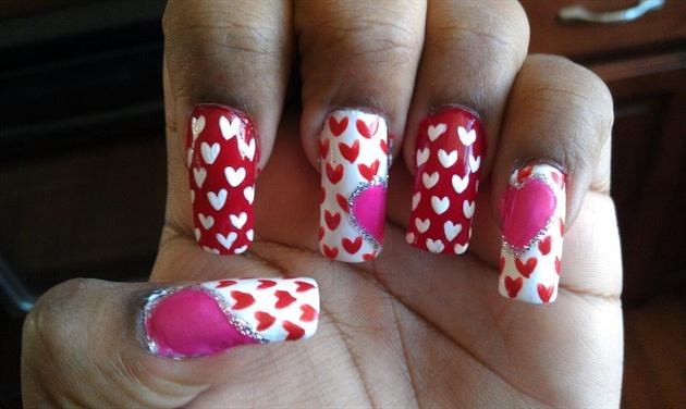 Valentine Nails!!