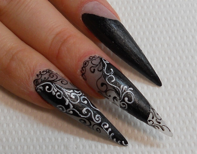 Swirl Design Nail Art Gallery Step By Step Tutorial Photos