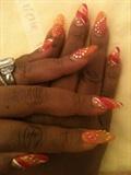 Orange & Pink Rhinestone