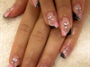 Gel nails with flowers