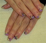 gel nails with lace sample