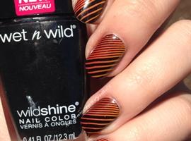 nail art: Gradient Orange Stamp