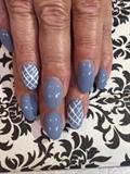 Blue Criss Cross