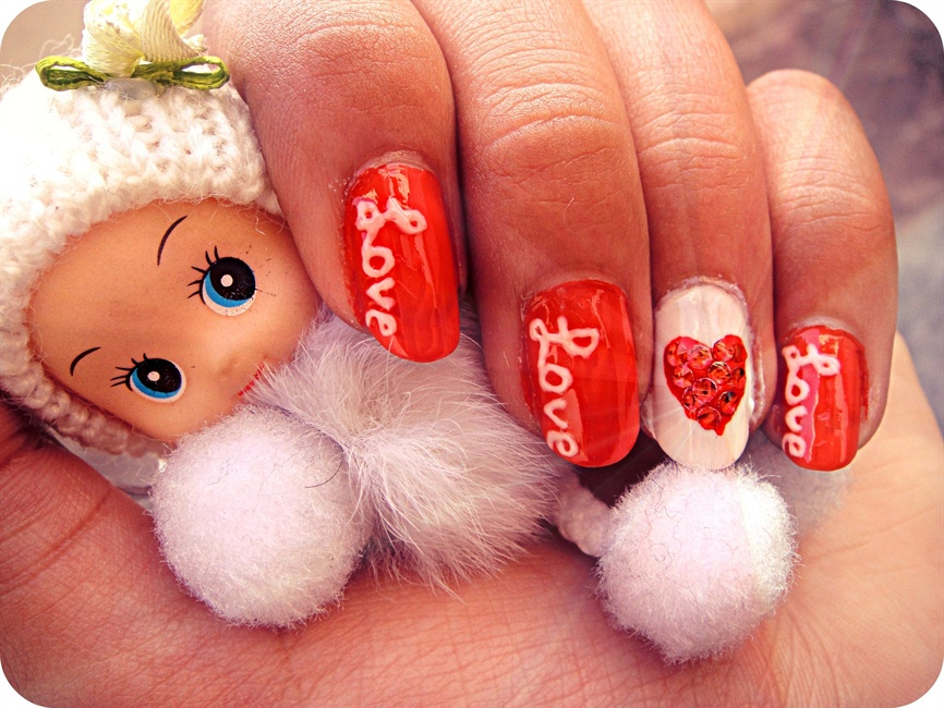 Easy Valentines Day Nails - Nail Art Gallery