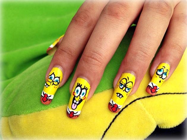 ♥ Spongebob Squarepants Nail art♥
