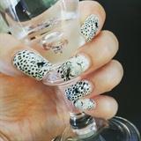 Water decal nail.