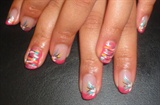Nail Art on Shellac Color (Tropix)