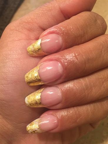 Gold Leaf French Mani