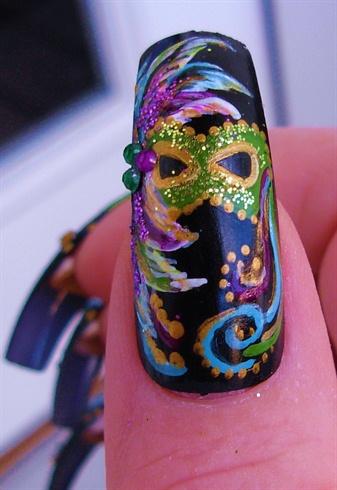 Mardi Gras Mask close-up
