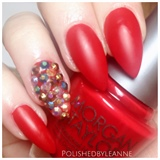 Red Accent Stiletto Nails