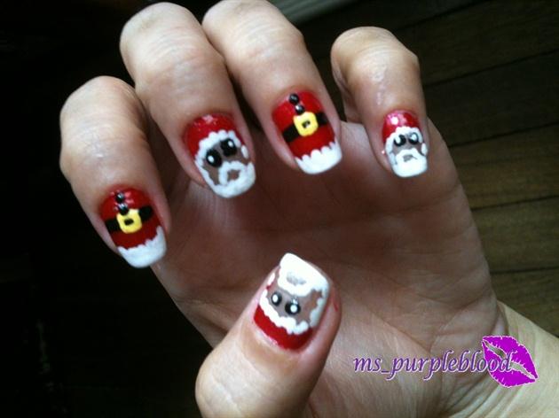 santa claus nail art - Santa Claus Nail Art - Nail Art Gallery