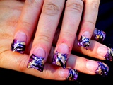 Purple Glitter & Gold Foil
