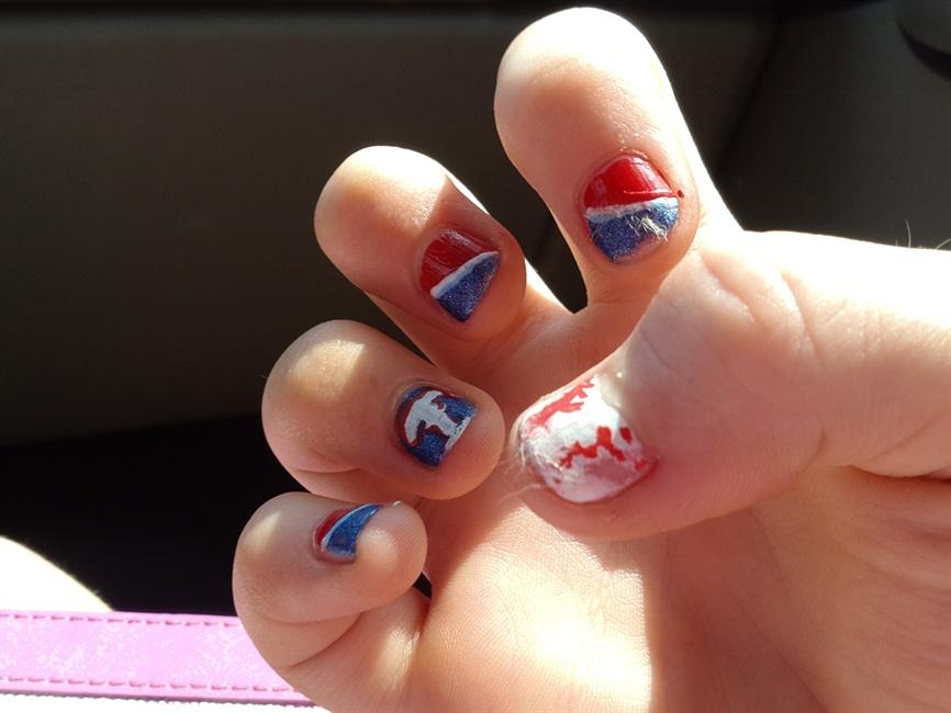 Texas Rangers Baseball Nails 2013 Nail Art Gallery