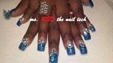custom blue magic glitter blinging