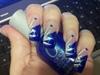 blue tip white design