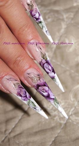 aquarelle roses