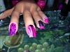 Hot pink dots & glitter