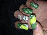 St. Patrick nail art