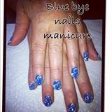Blue bye manicure