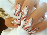 Abstract Nail Art Design For Long Nails